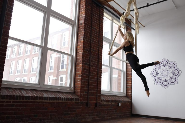 Aerial yoga studio fitness circus silks studio class classes manchester nh new hampshre