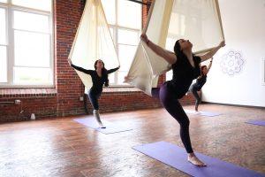 aerial fitness studio circus yoga manchester nh new hampshire kama fitness karlene linxweiler