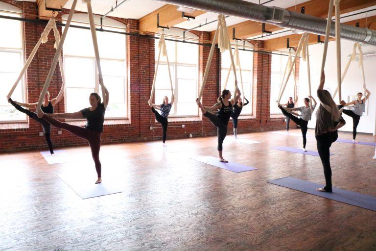 aerial yoga yoga studio fitness circus manchester nh new hampshire aerial silks studio yoga studio classes karlene best of nh